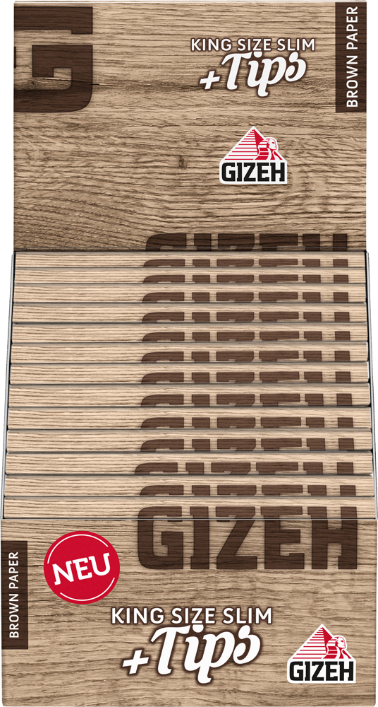 GIZEH Tips Brown